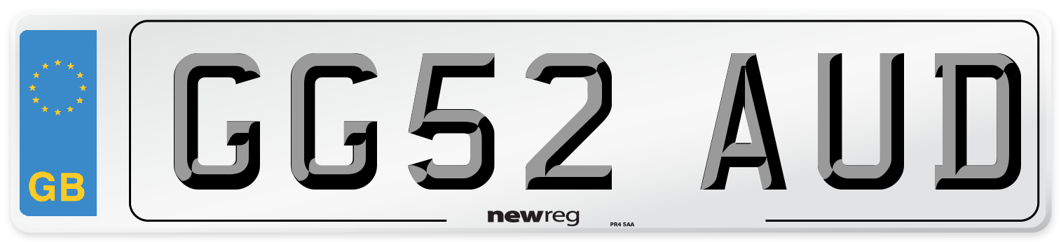 GG52 AUD Number Plate from New Reg