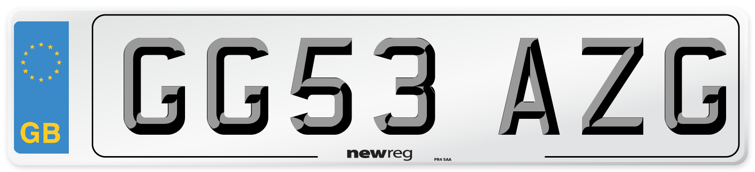 GG53 AZG Number Plate from New Reg