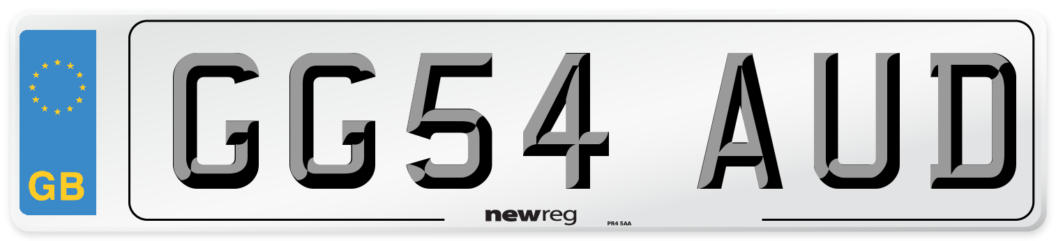 GG54 AUD Number Plate from New Reg