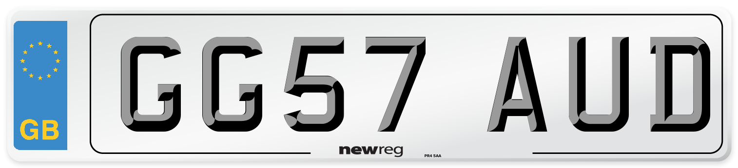 GG57 AUD Number Plate from New Reg