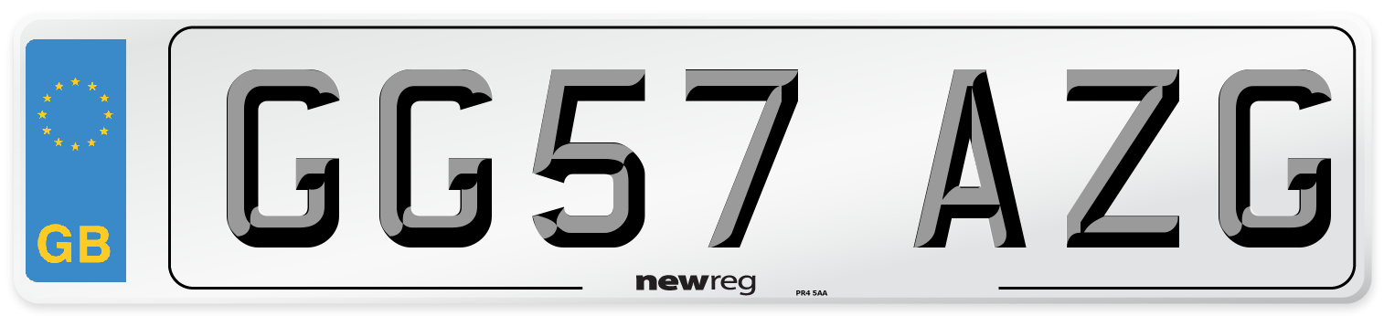GG57 AZG Number Plate from New Reg