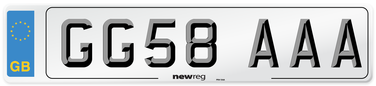 GG58 AAA Number Plate from New Reg