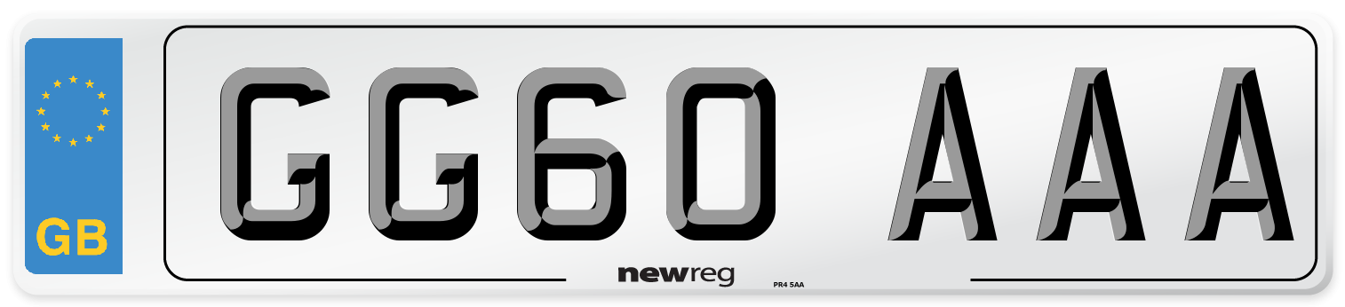 GG60 AAA Number Plate from New Reg