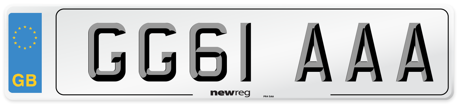 GG61 AAA Number Plate from New Reg