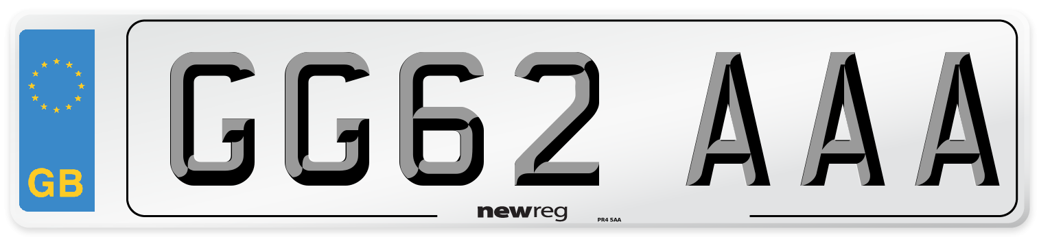 GG62 AAA Number Plate from New Reg
