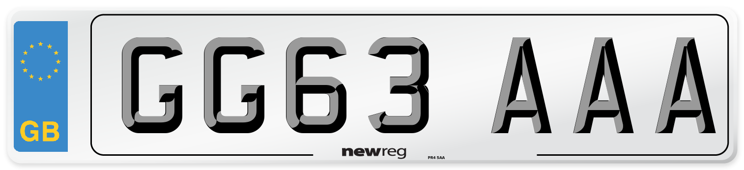 GG63 AAA Number Plate from New Reg