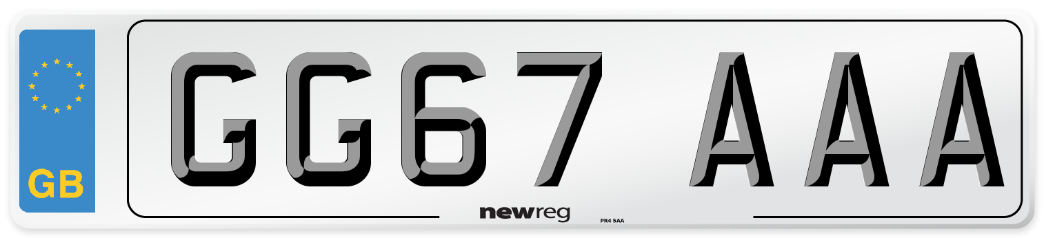 GG67 AAA Number Plate from New Reg