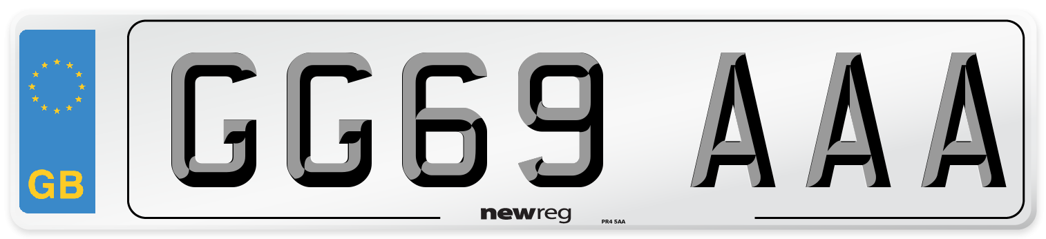 GG69 AAA Number Plate from New Reg