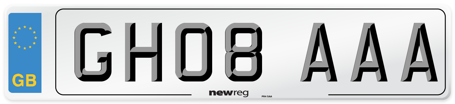 GH08 AAA Number Plate from New Reg