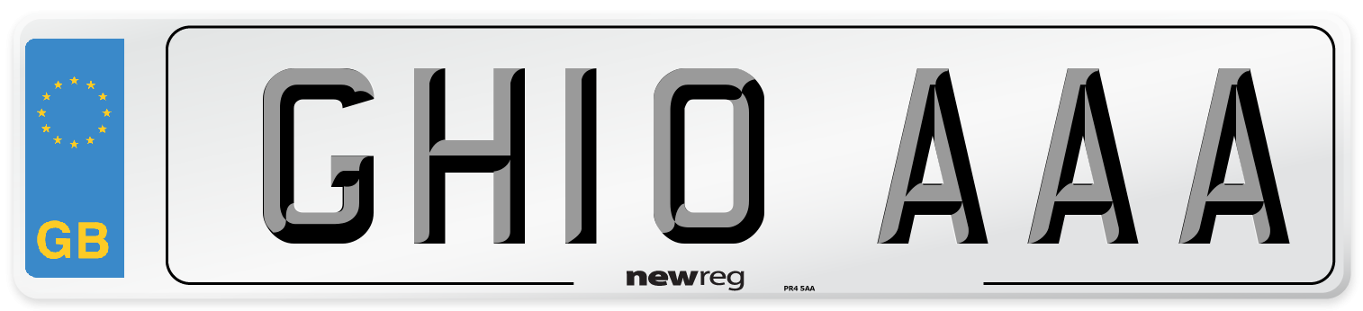 GH10 AAA Number Plate from New Reg