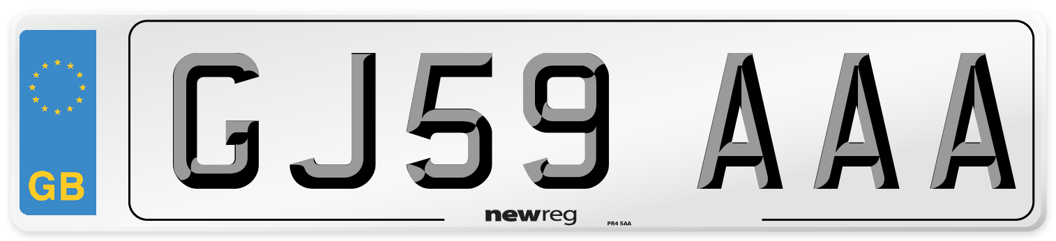 GJ59 AAA Number Plate from New Reg