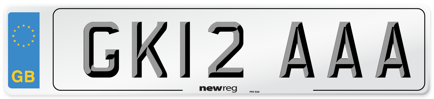 GK12 AAA Number Plate from New Reg