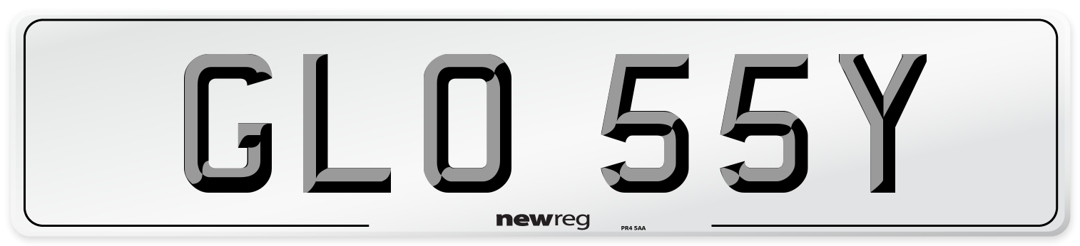 GLO 55Y Number Plate from New Reg