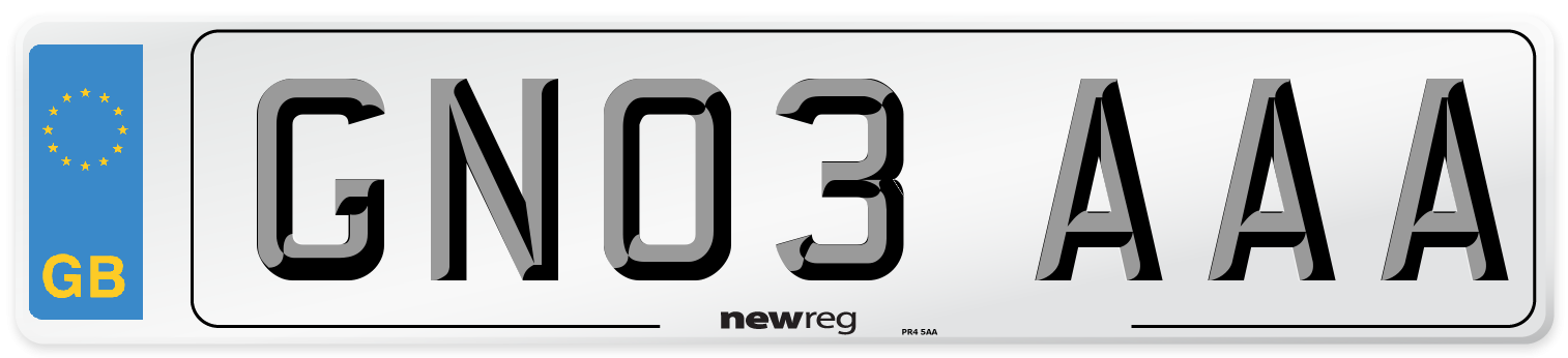 GN03 AAA Number Plate from New Reg