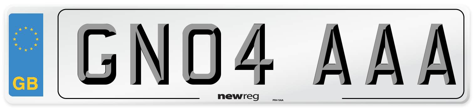 GN04 AAA Number Plate from New Reg