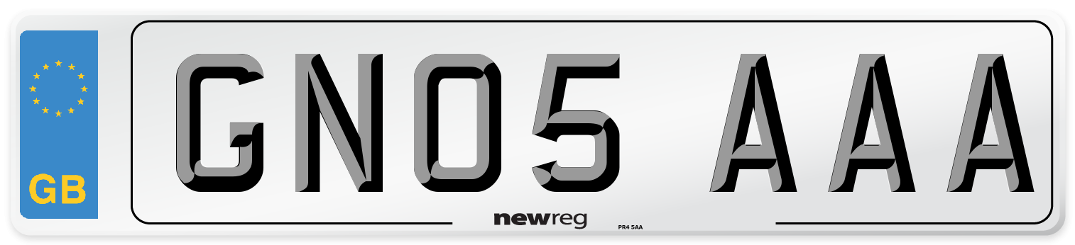 GN05 AAA Number Plate from New Reg