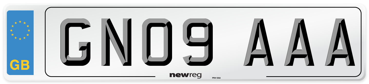 GN09 AAA Number Plate from New Reg