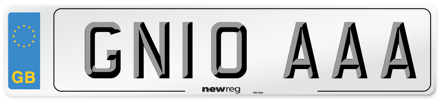 GN10 AAA Number Plate from New Reg