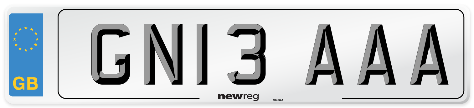 GN13 AAA Number Plate from New Reg