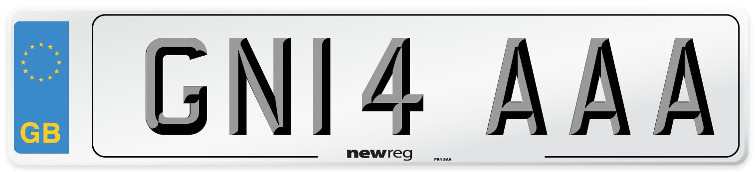 GN14 AAA Number Plate from New Reg