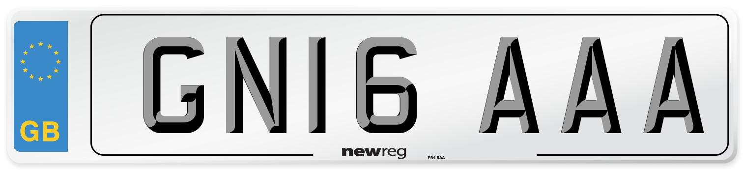 GN16 AAA Number Plate from New Reg