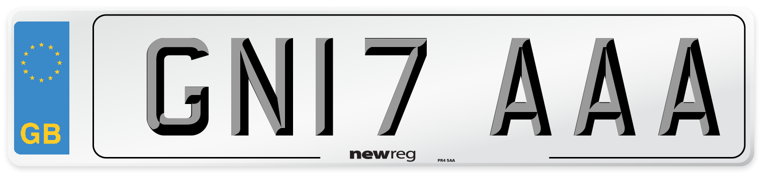 GN17 AAA Number Plate from New Reg