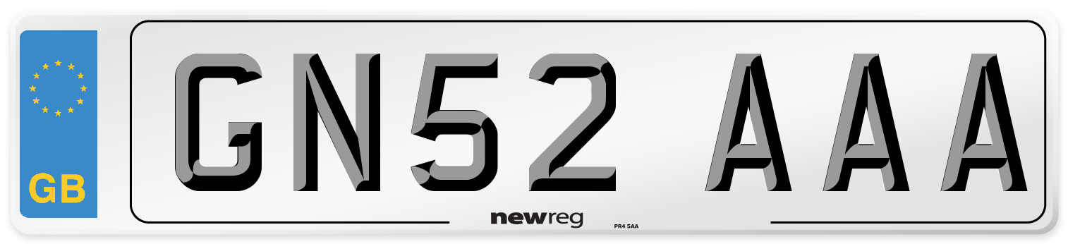 GN52 AAA Number Plate from New Reg