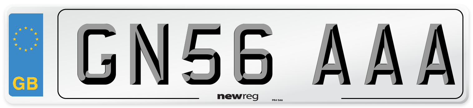 GN56 AAA Number Plate from New Reg