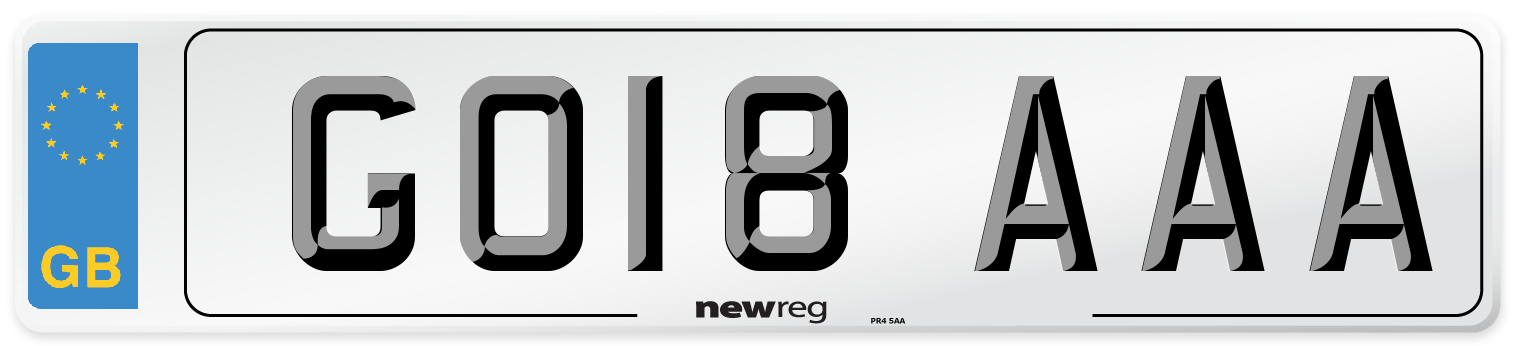 GO18 AAA Number Plate from New Reg
