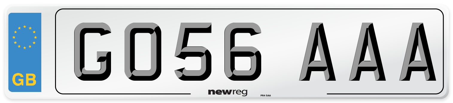 GO56 AAA Number Plate from New Reg
