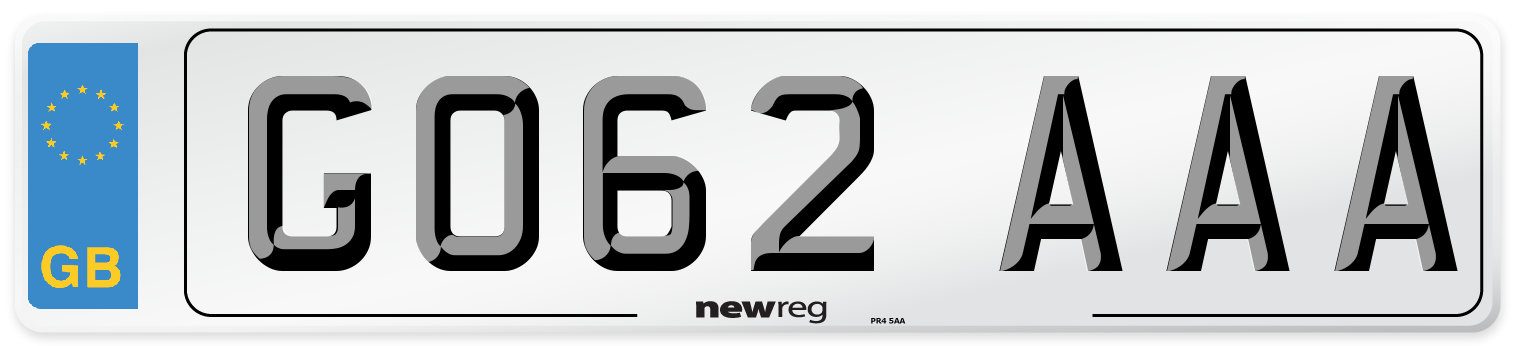 GO62 AAA Number Plate from New Reg