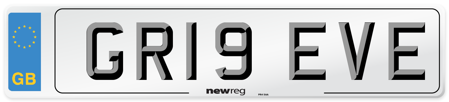 GR19 EVE Number Plate from New Reg