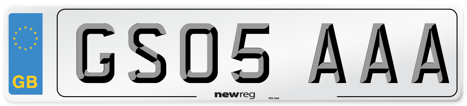 GS05 AAA Number Plate from New Reg