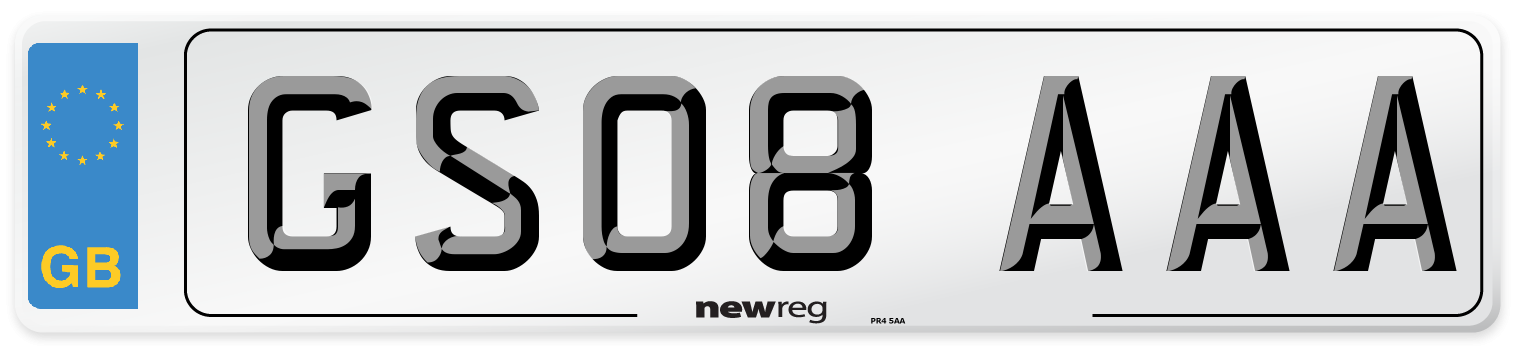GS08 AAA Number Plate from New Reg