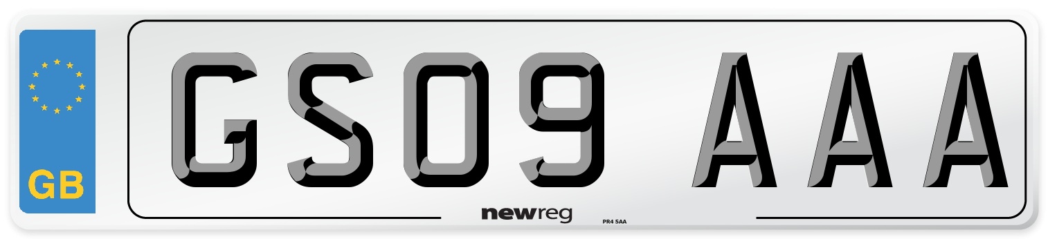 GS09 AAA Number Plate from New Reg