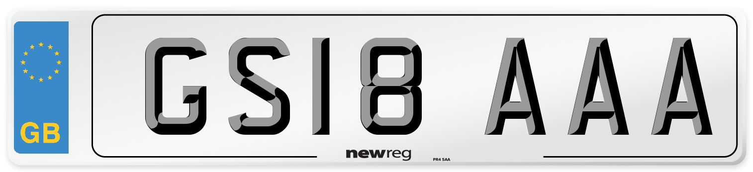 GS18 AAA Number Plate from New Reg