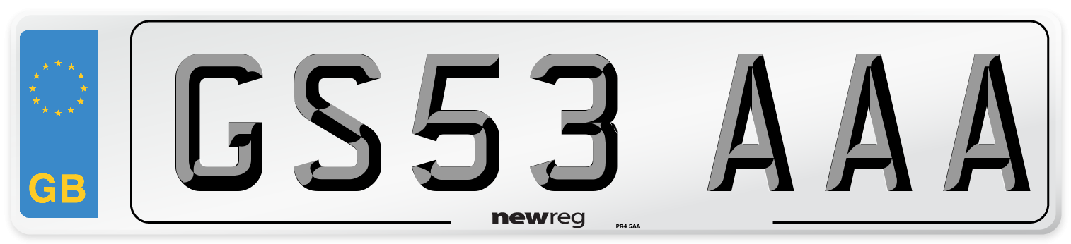 GS53 AAA Number Plate from New Reg