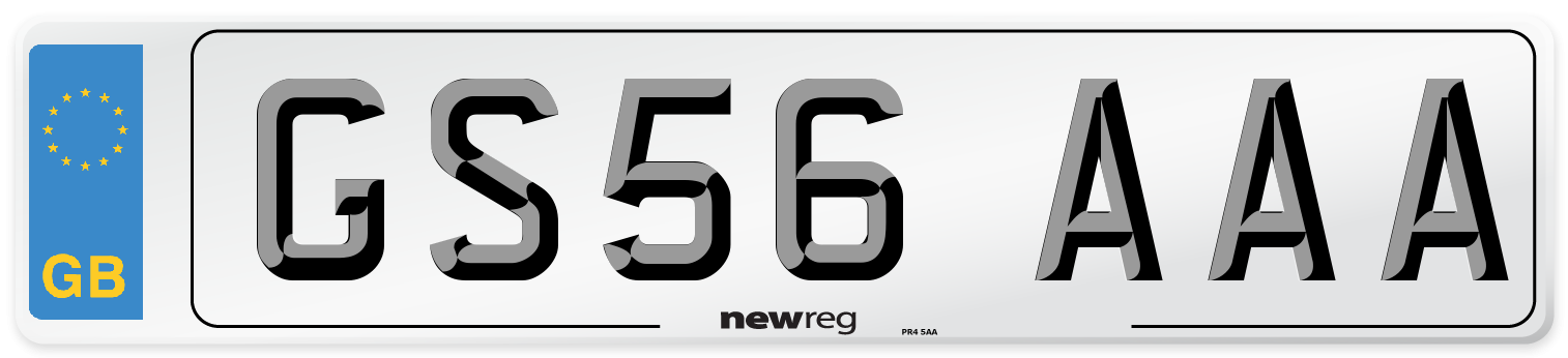 GS56 AAA Number Plate from New Reg