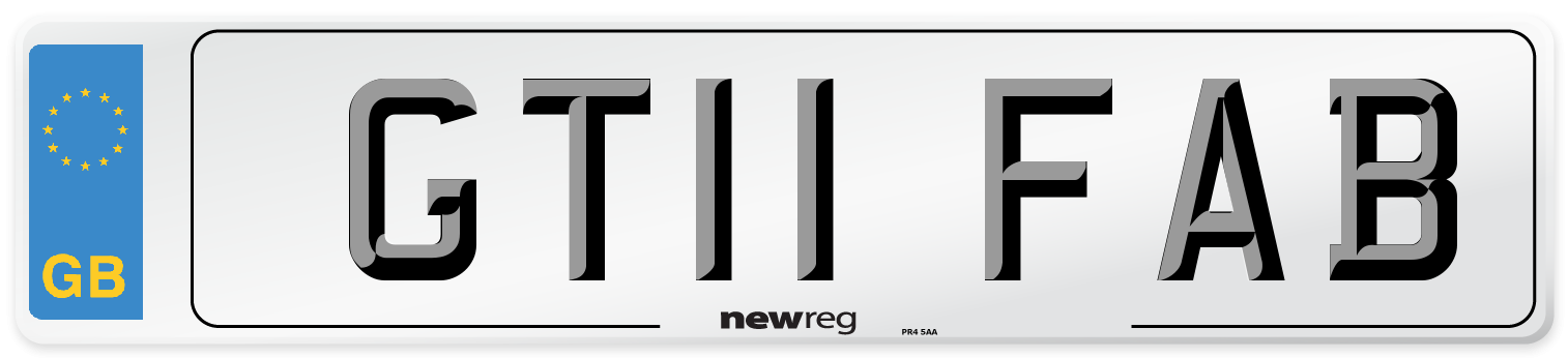 GT11 FAB Number Plate from New Reg