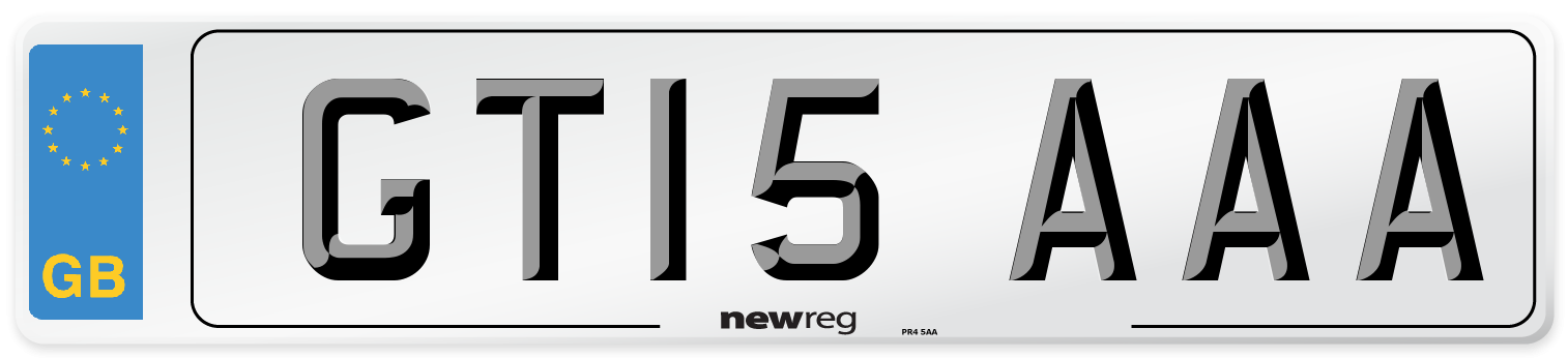 GT15 AAA Number Plate from New Reg