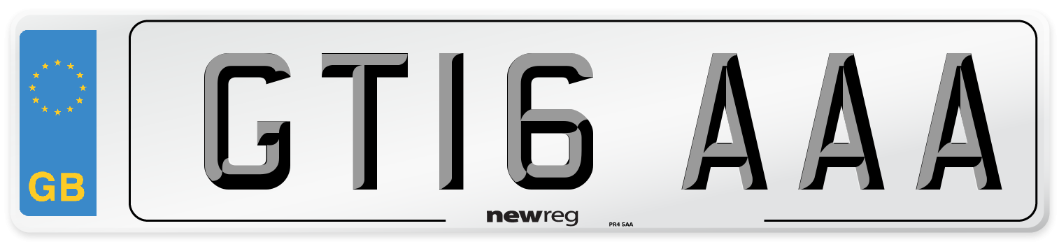 GT16 AAA Number Plate from New Reg