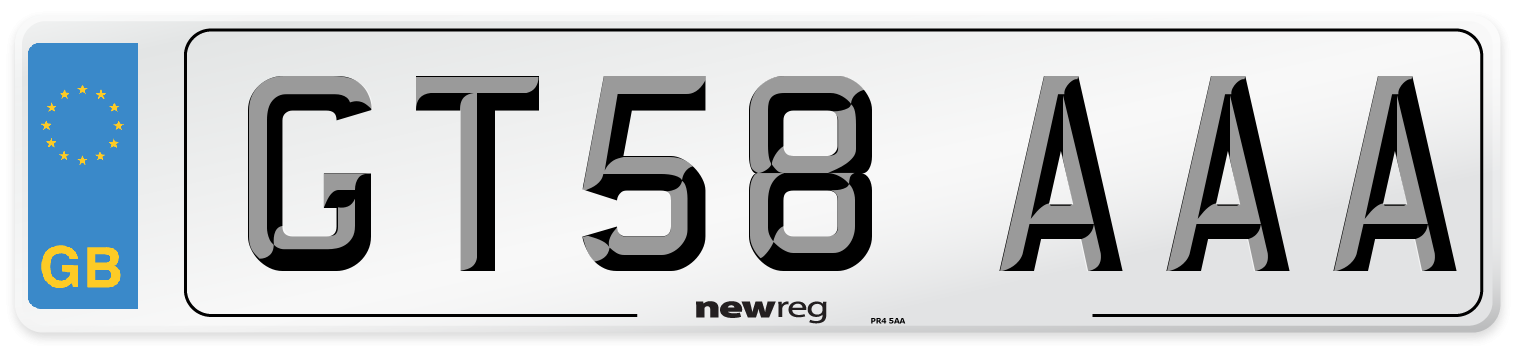 GT58 AAA Number Plate from New Reg