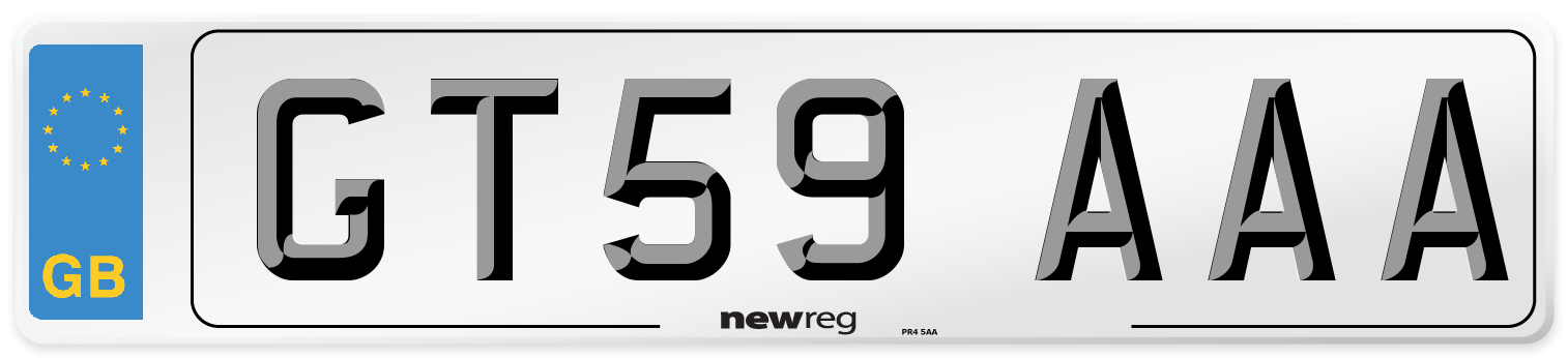 GT59 AAA Number Plate from New Reg
