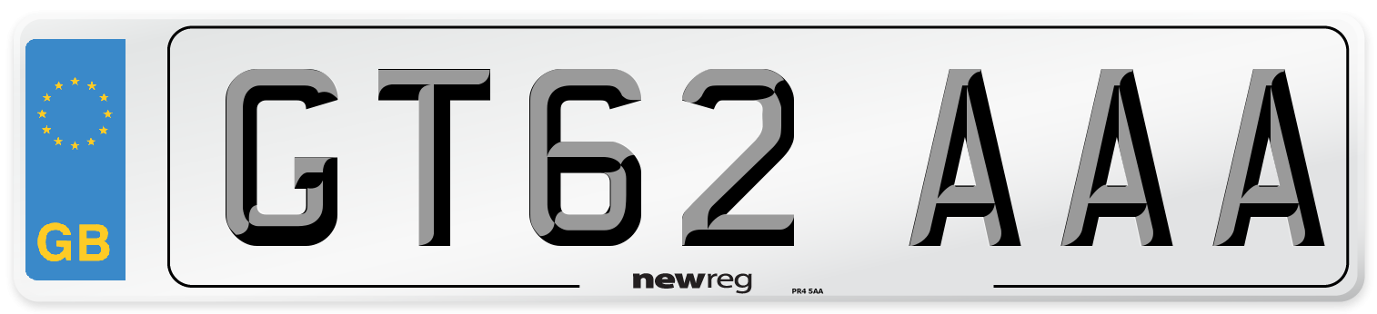 GT62 AAA Number Plate from New Reg