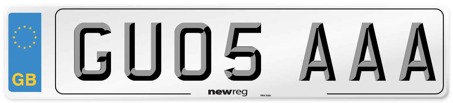 GU05 AAA Number Plate from New Reg