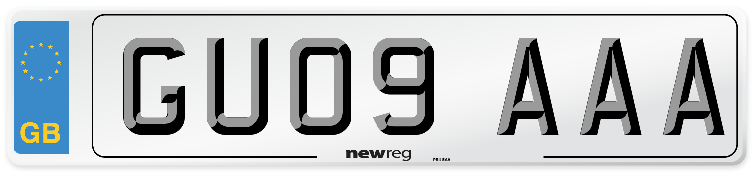GU09 AAA Number Plate from New Reg