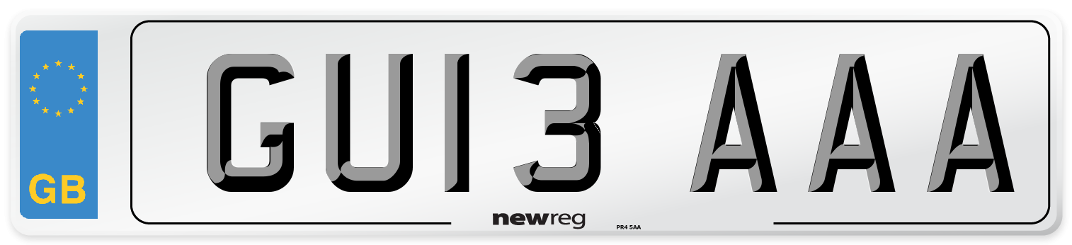 GU13 AAA Number Plate from New Reg