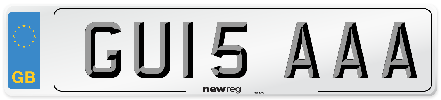 GU15 AAA Number Plate from New Reg