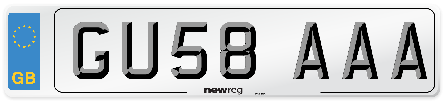 GU58 AAA Number Plate from New Reg