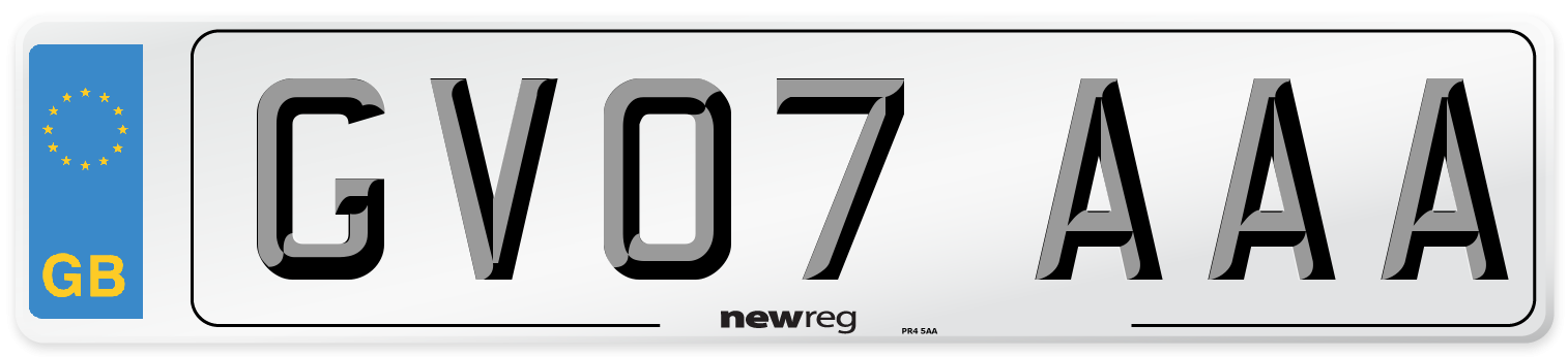 GV07 AAA Number Plate from New Reg